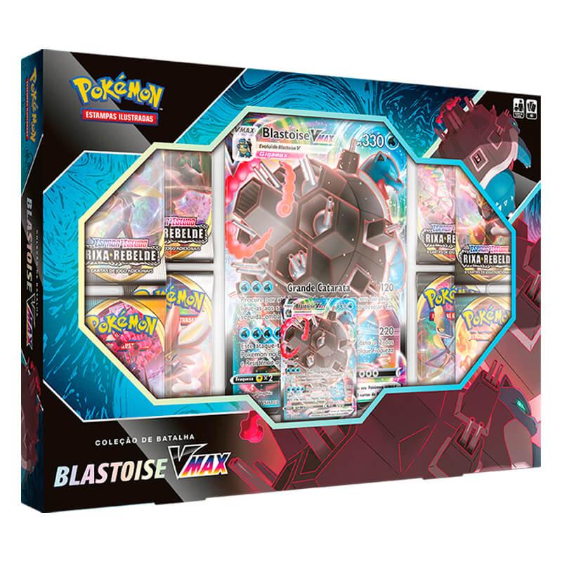 Pokémon TCG: Box Coleção de Batalha Venusaur VMAX + Blastoise VMAX