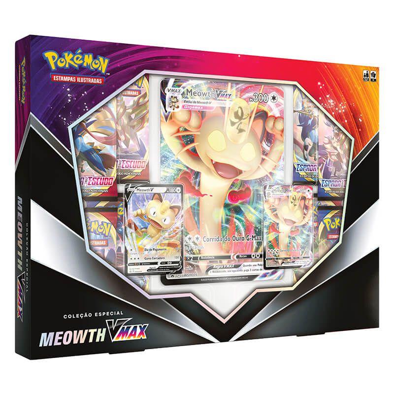 Pokémon TCG: Box Coleção Especial - Meowth VMAX