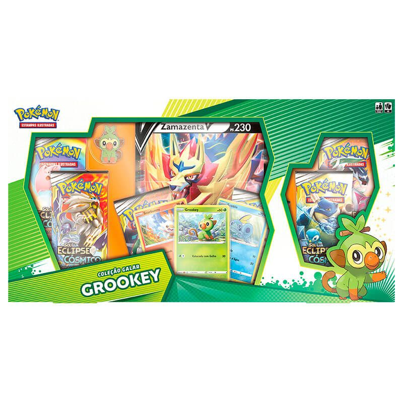 Pokémon TCG: Box Coleção Galar Grookey - Zamazenta V