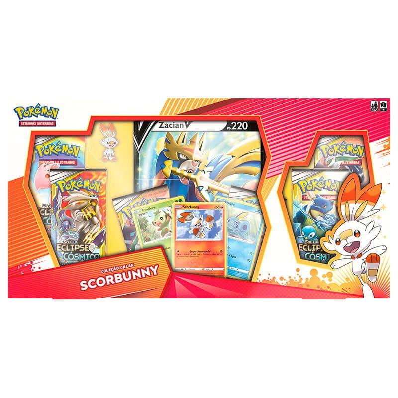 Pokémon TCG: Box Coleção Galar Scorbunny - Zacian V
