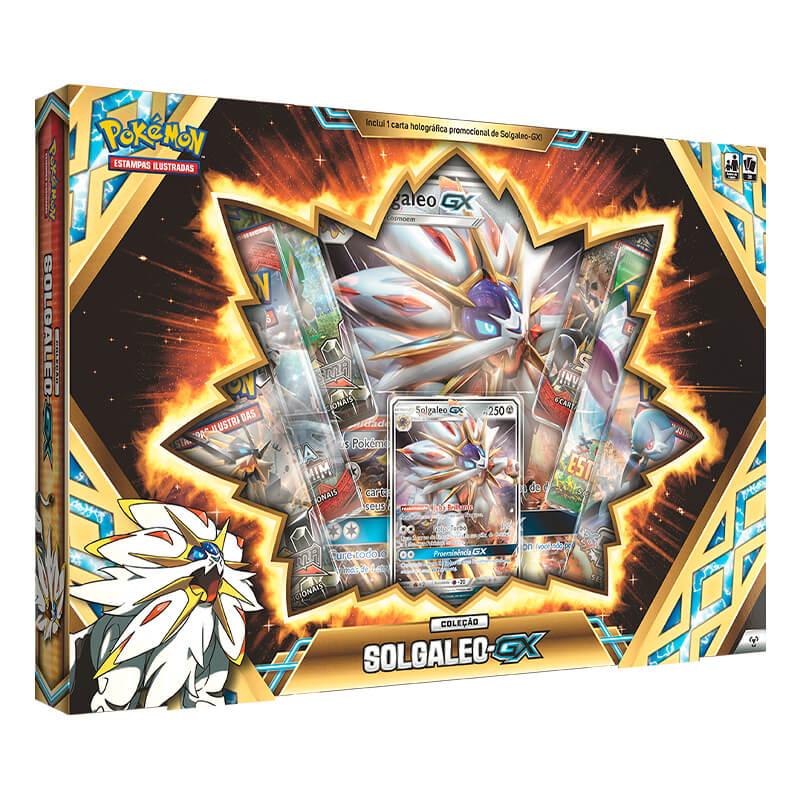 Pokémon TCG: Box Coleção Lendas de Alola - Lunala GX + Solgaleo GX