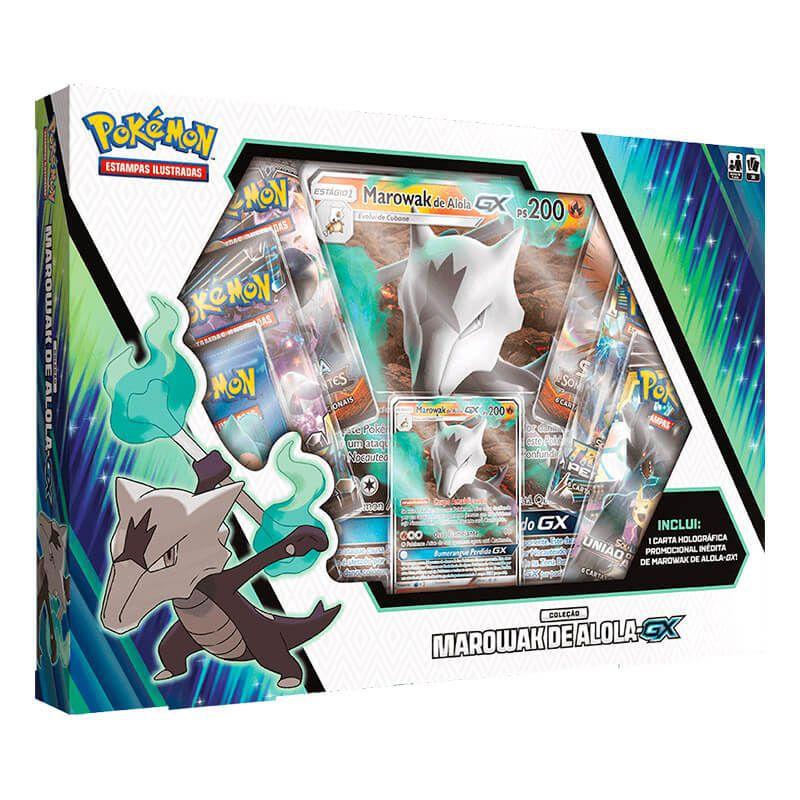Pokémon TCG: Box Coleção Marowak de Alola-GX + Kangaskhan-GX + Porygon-Z-GX