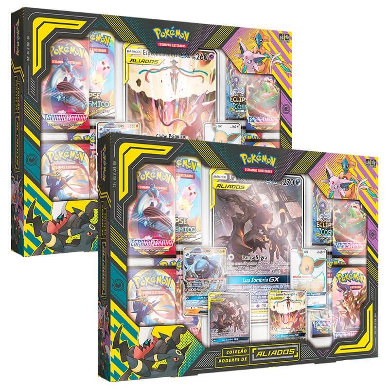 Pokémon TCG: Box Coleção Poderes de Aliados - Espeon & Deoxys + Umbreon & Drakrai
