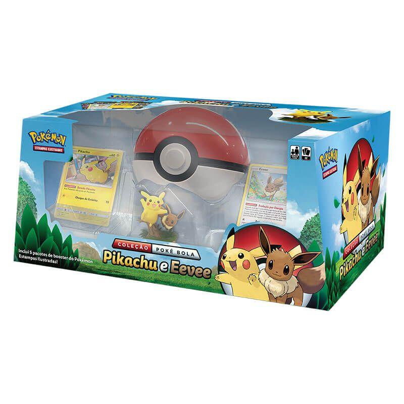 Pokémon TCG: Box Coleção Poké Bola - Pikachu e Eevee + Decks Let's Play, Pikachu! e Let's Play, Eevee!