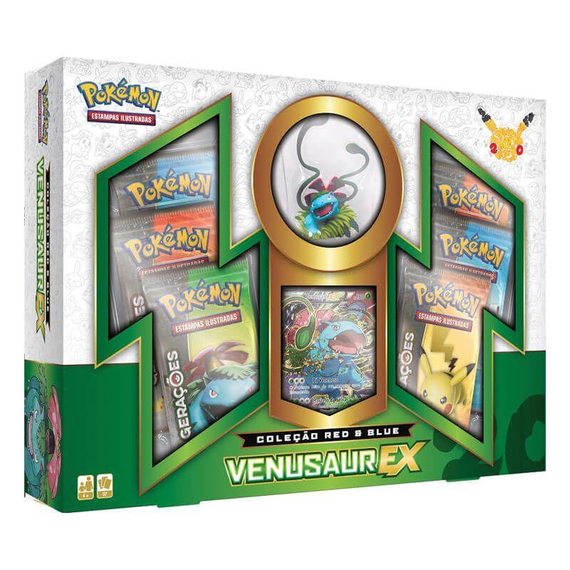Pokémon TCG: Box Coleção Red & Blue - Venusaur EX