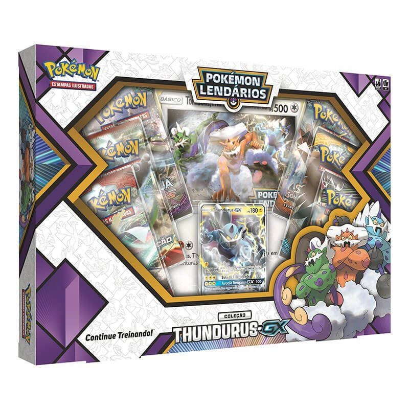 Pokémon TCG: Box Pokémon Lendários Forças da Natureza - Thundurus-GX + Tornadus-GX