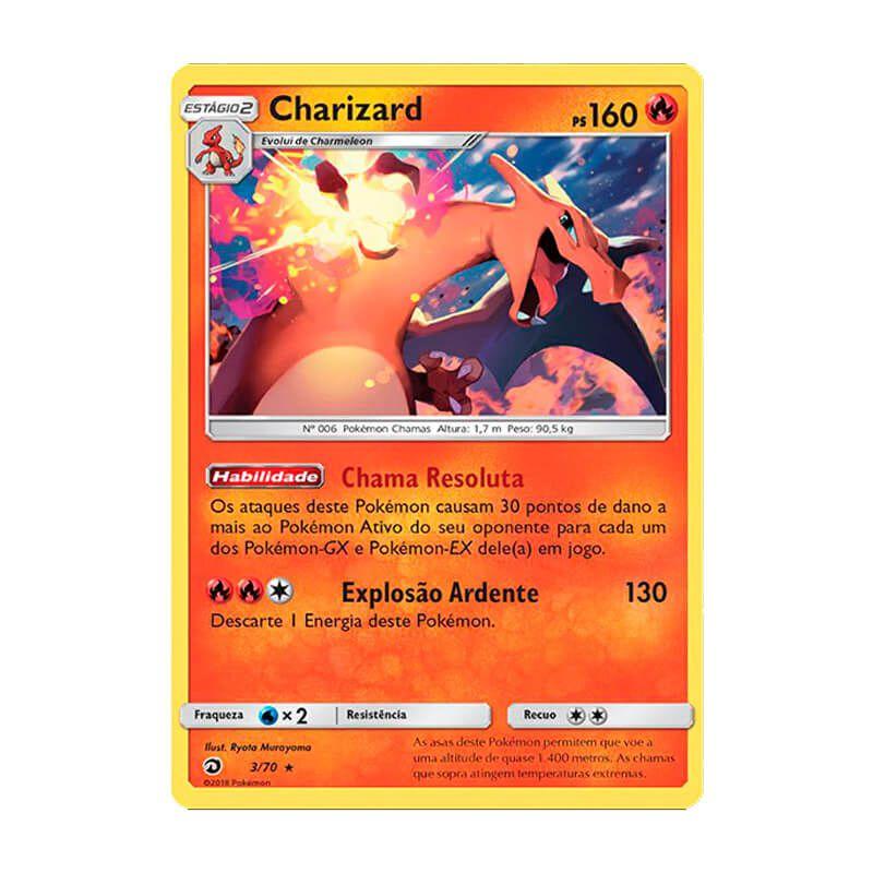 Pokémon TCG: Charizard (3/70) - SM7.5 Dragões Soberanos