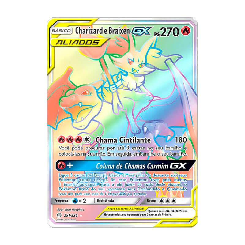 Pokémon TCG: Charizard e Braixen GX (251/236) - SM12 Eclipse Cósmico