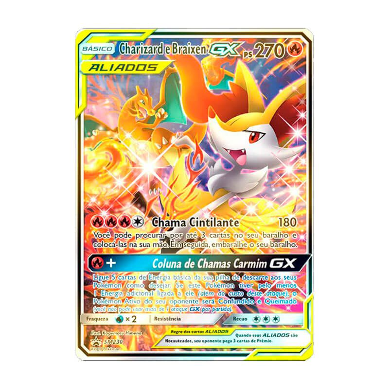 Pokémon TCG: Charizard e Braixen GX (SM230) - SM Promo
