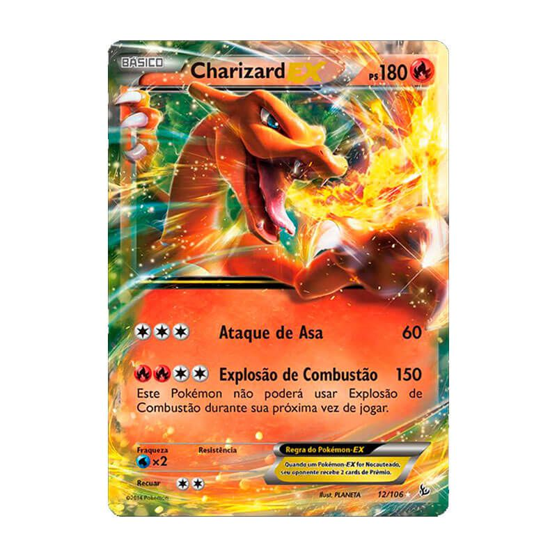 Pokémon TCG: Charizard EX (12/106) - XY2 Flash de Fogo