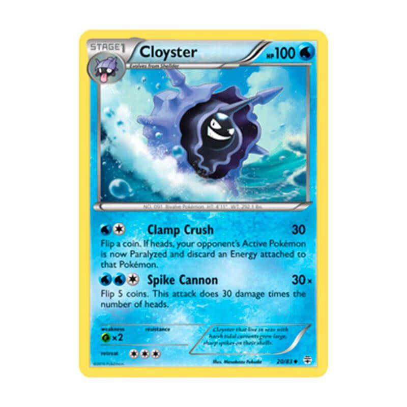 Pokémon TCG: Cloyster (20/83) - Gerações