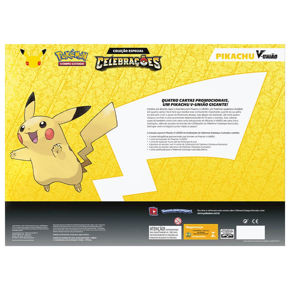 Pokémon TCG: Box Coleção Especial Celebrações - Pikachu V-UNIÃO