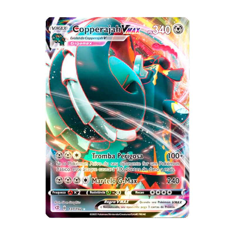 Pokémon TCG: Copperajah VMAX (137/192) - SWSH2 Rixa Rebelde