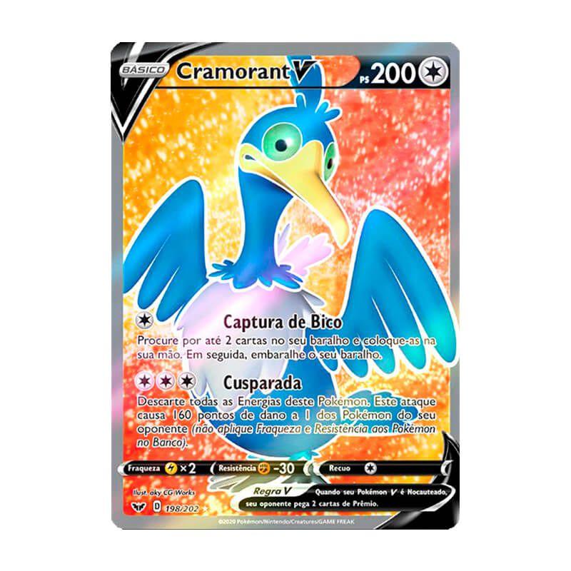 Pokémon TCG: Cramorant V (198/202) - SWSH1 Espada e Escudo