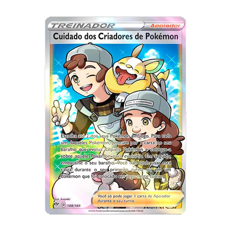 Pokémon TCG: Cuidado dos Criadores de Pokémon (188/189) - SWSH3 Escuridão Incandescente
