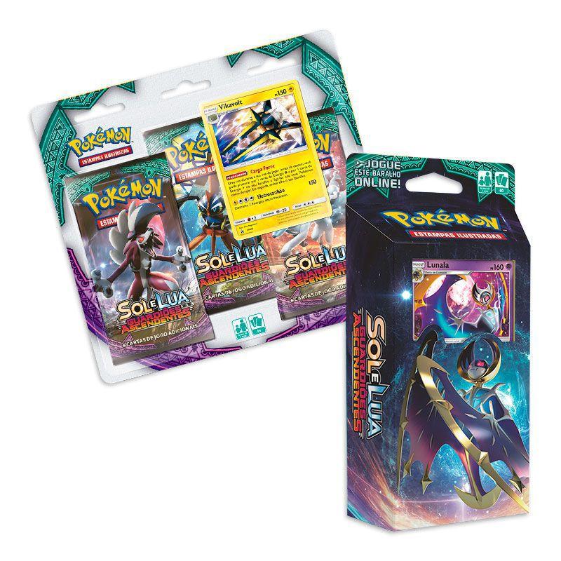 Pokémon TCG: Deck SM2 Guardiões Ascendentes - Lua Oculta + Triple Pack Vikavolt