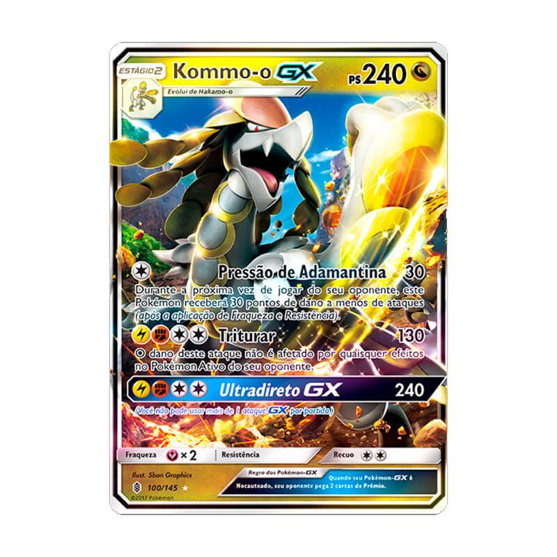 Pokémon TCG: Deck SM4 Invasão Carmim - Trovões Retumbantes + Kommo-o GX (SM2 100/145)