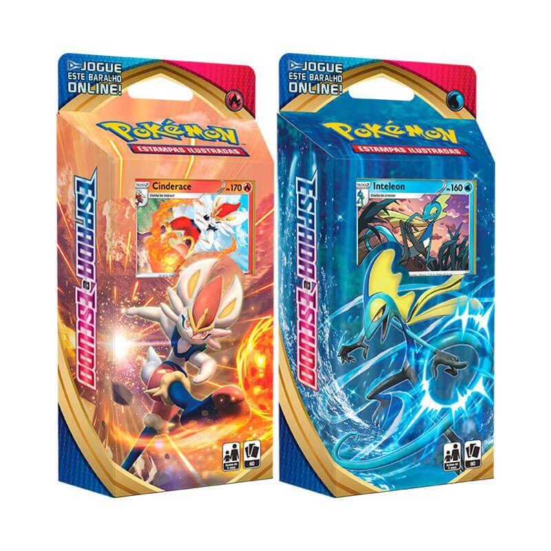 Pokémon TCG: Deck SWSH1 Espada e Escudo - Baralho Temático Cinderace + Inteleon