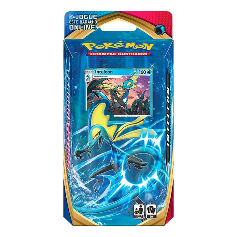 Pokémon TCG: Deck SWSH1 Espada e Escudo - Baralho Temático Rillaboom + Cinderace + Inteleon