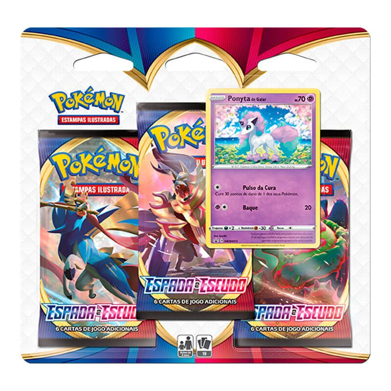 Pokémon TCG: Deck SWSH1 Espada e Escudo - Baralho Temático Rillaboom + Triple Pack: Ponyta de Galar