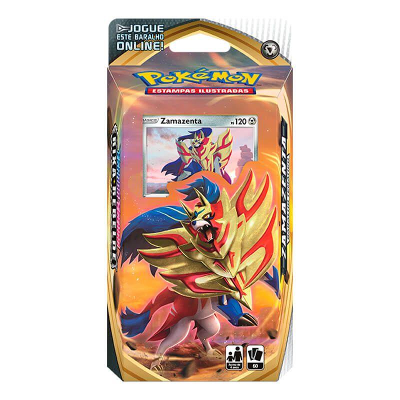 Pokémon TCG: Deck SWSH2 Rixa Rebelde - Baralho Temático Zamazenta + Triple Pack Noctowl