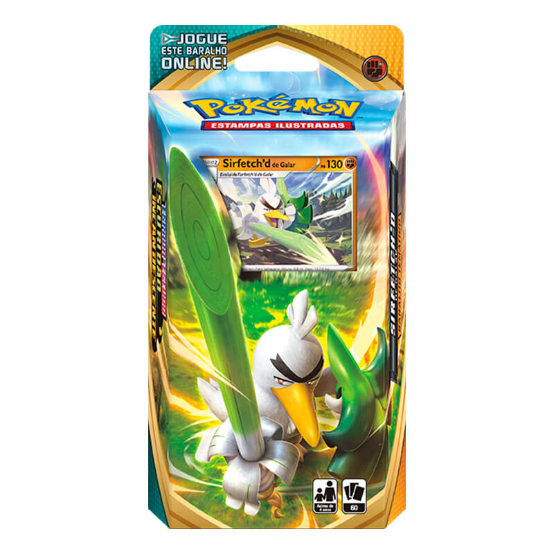 Pokémon TCG: Deck SWSH3 Escuridão Incandescente - Baralho Temático Sirfetch'd de Galar