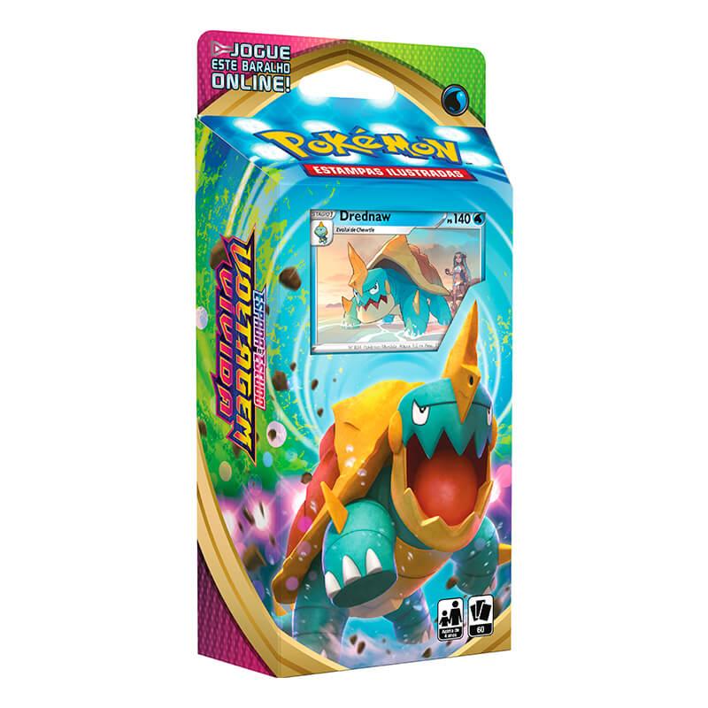 Pokémon TCG: Deck SWSH4 Voltagem Vívida - Baralho Temático Drednaw + Triple Pack Scorbunny