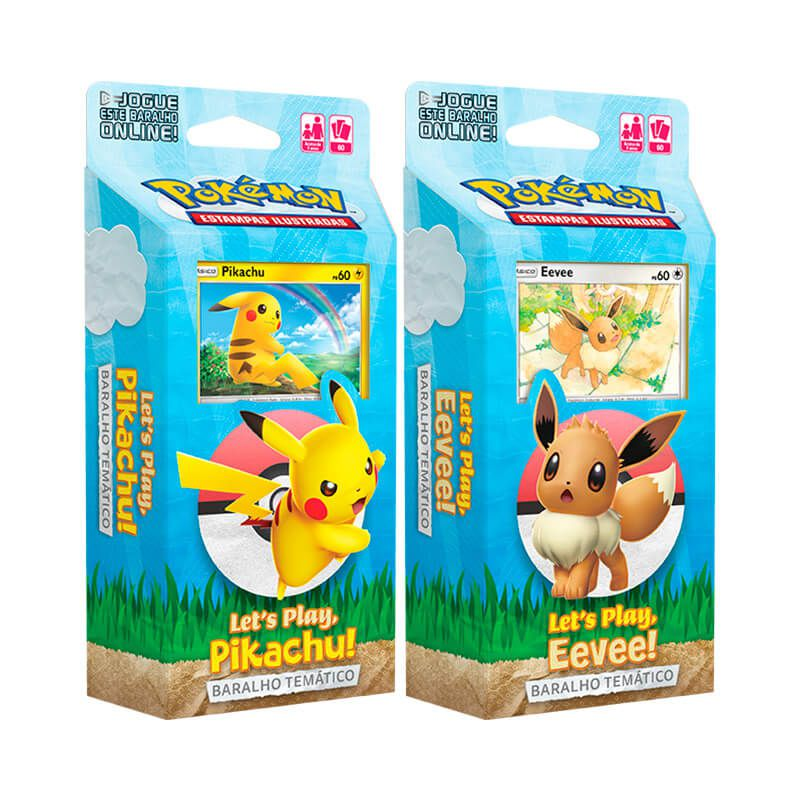 Pokémon TCG: Decks Baralho Temático - Let's Play, Pikachu! + Let's Play, Eevee!