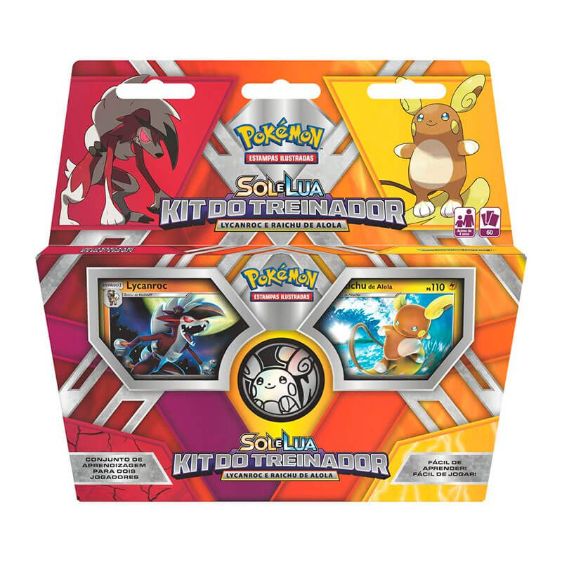 Pokémon TCG: Decks Kit do Treinador Lycanroc e Raichu de Alola + Sombra Florestal + Maré Brilhante