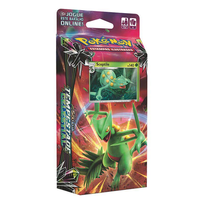 Pokémon TCG: Decks SM7 Tempestade Celestial - Fúria Aquática + Folha Relâmpago