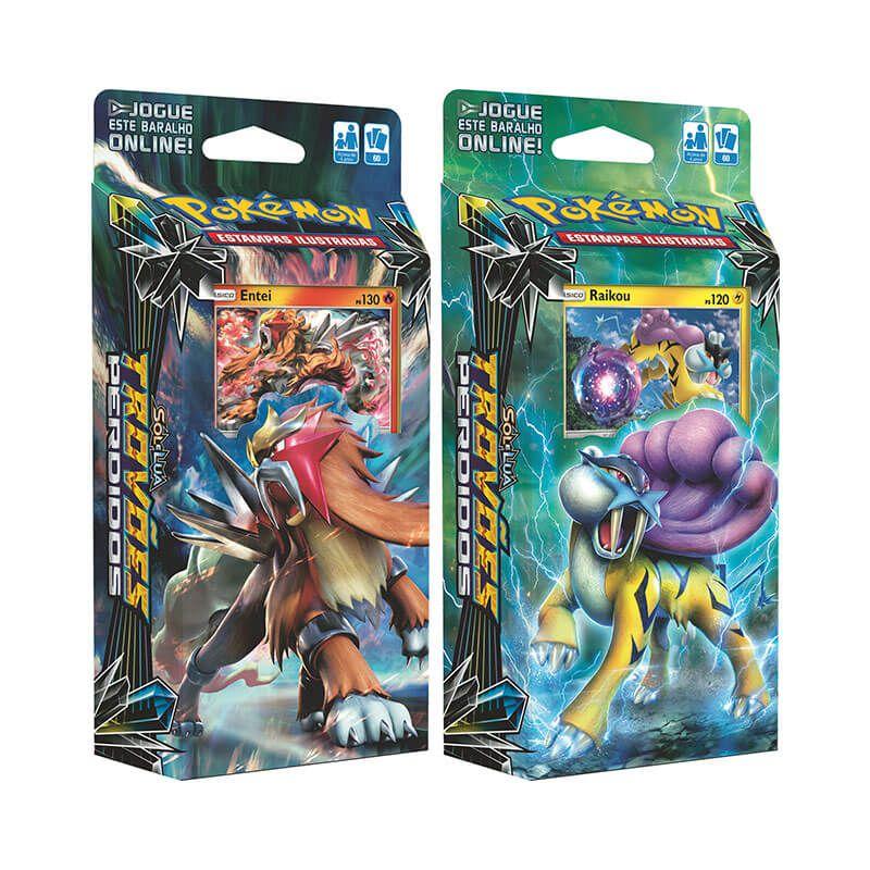 Pokémon TCG: Decks SM8 Trovões Perdidos - Vulcão em Chamas + Invocador de Tempestades