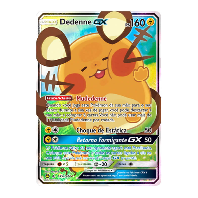 Pokémon TCG: Dedenne GX (195a/214) - SM10 Elos Inquebráveis
