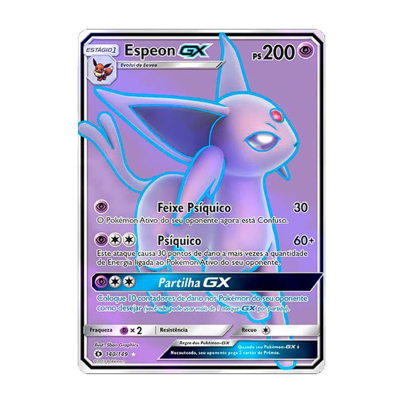 Pokémon TCG: Espeon GX (140/149) - SM1 Sol e Lua