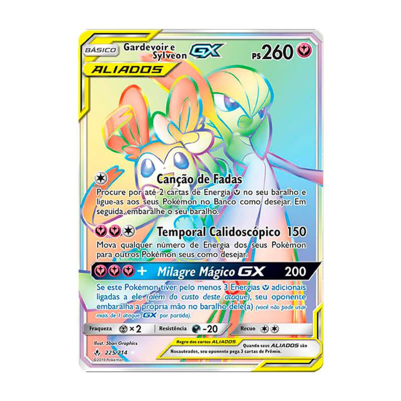 Pokémon TCG: Gardevoir e Sylveon GX (225/214) - SM10 Elos Inquebráveis