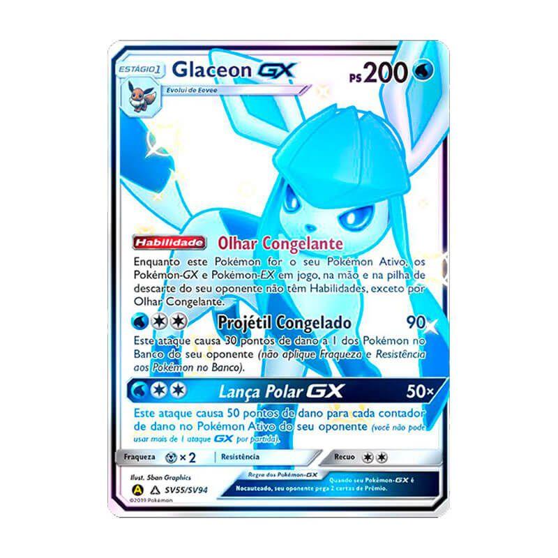 Pokémon TCG: Glaceon GX (SV55/SV94) - SM11.5 Destinos Ocultos