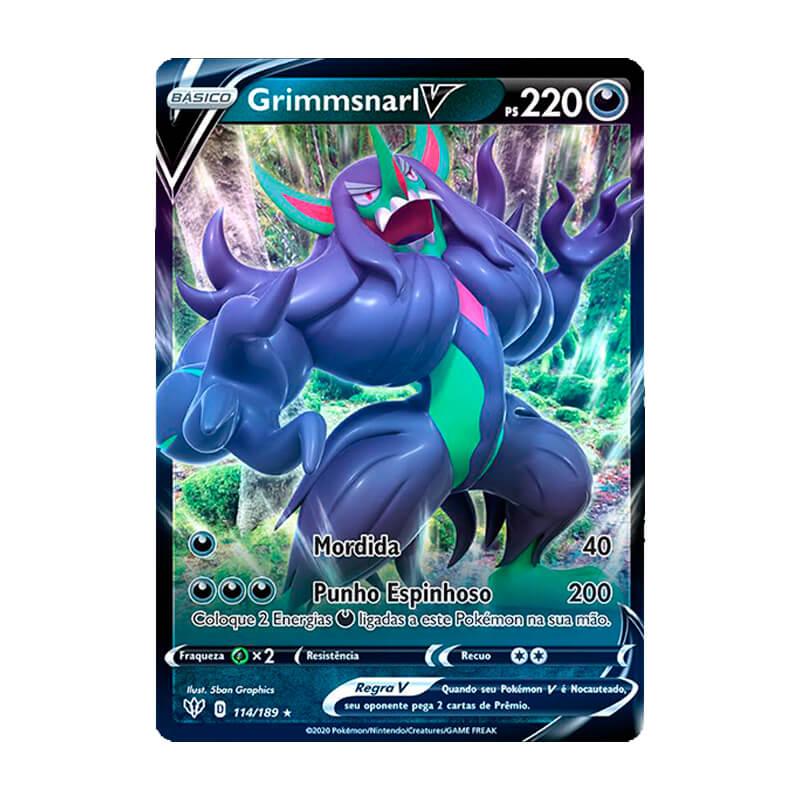 Pokémon TCG: Grimmsnarl V (114/189) - SWSH3 Escuridão Incandescente