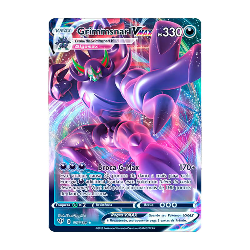 Pokémon TCG: Grimmsnarl VMAX (115/189) - SWSH3 Escuridão Incandescente