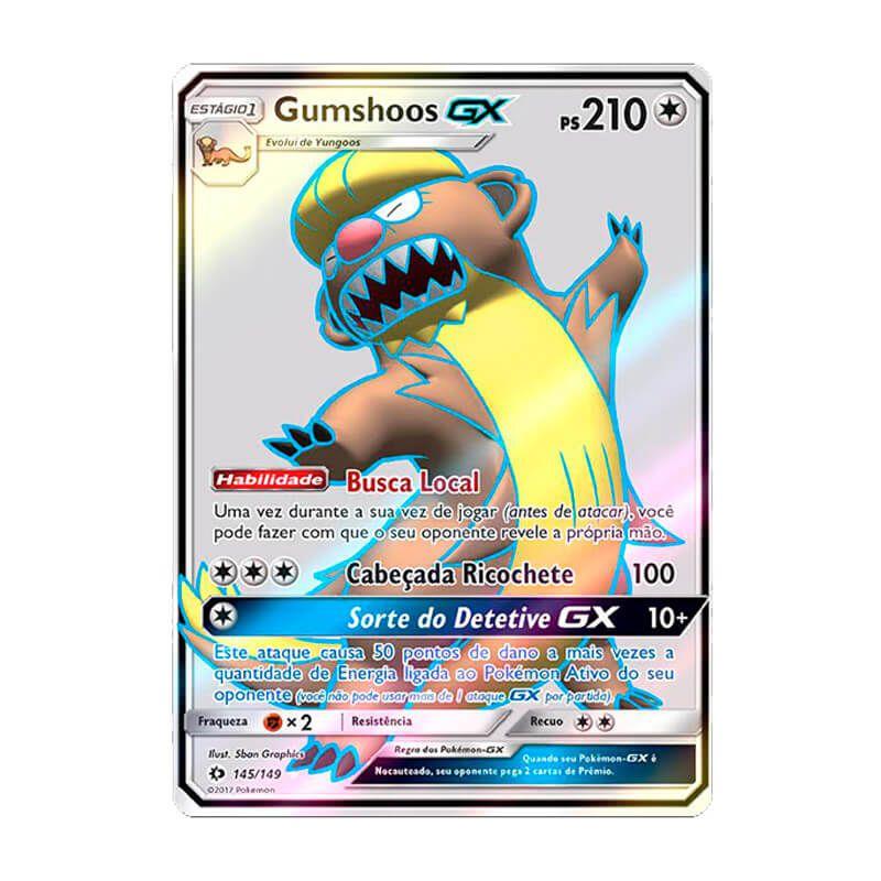 Pokémon TCG: Gumshoos GX (145/149) - SM1 Sol e Lua
