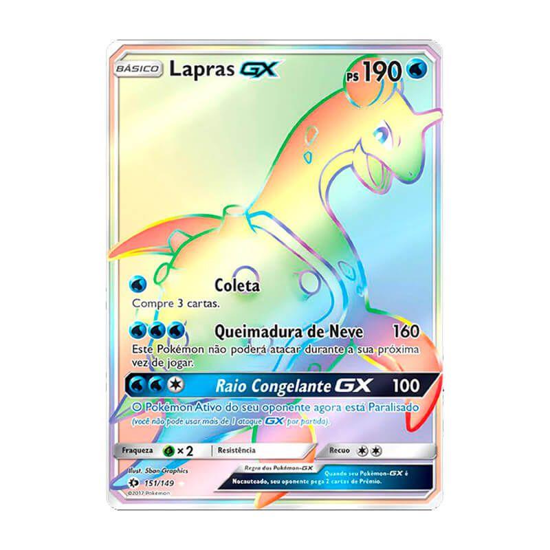 Pokémon TCG: Lapras GX (151/149) - SM1 Sol e Lua