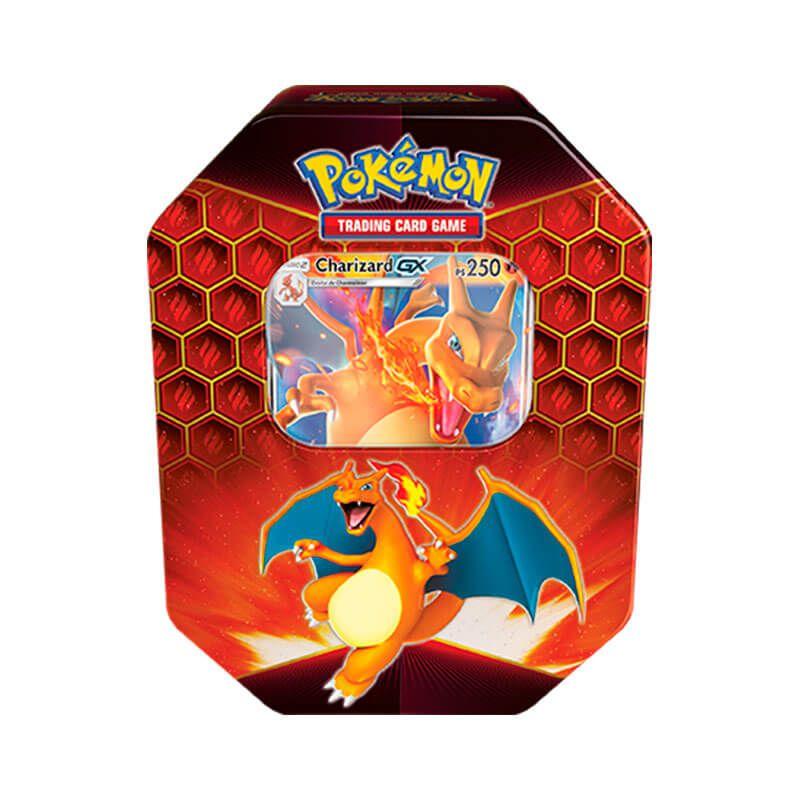 Pokémon TCG: Lata Colecionável Destinos Ocultos - Charizard GX + Deck SM9 União de Aliados - Chama Implacável