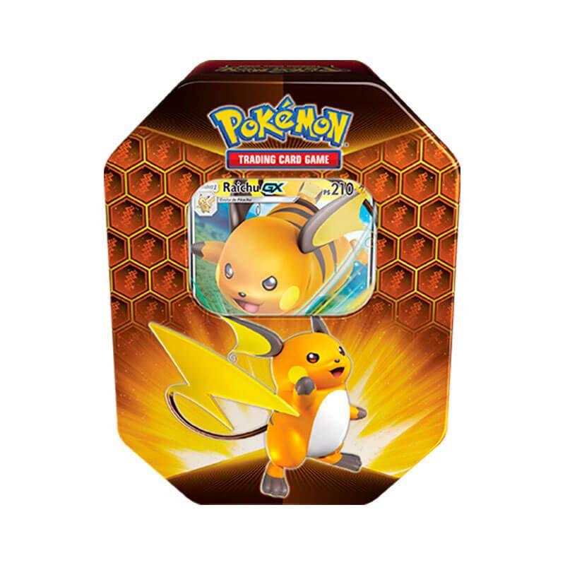 Pokémon TCG: Lata Colecionável Destinos Ocultos - Raichu GX