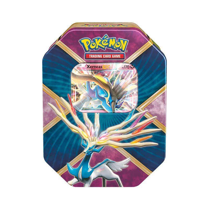 Pokémon TCG: Lata Colecionável Kalos Brilhante - Xerneas EX