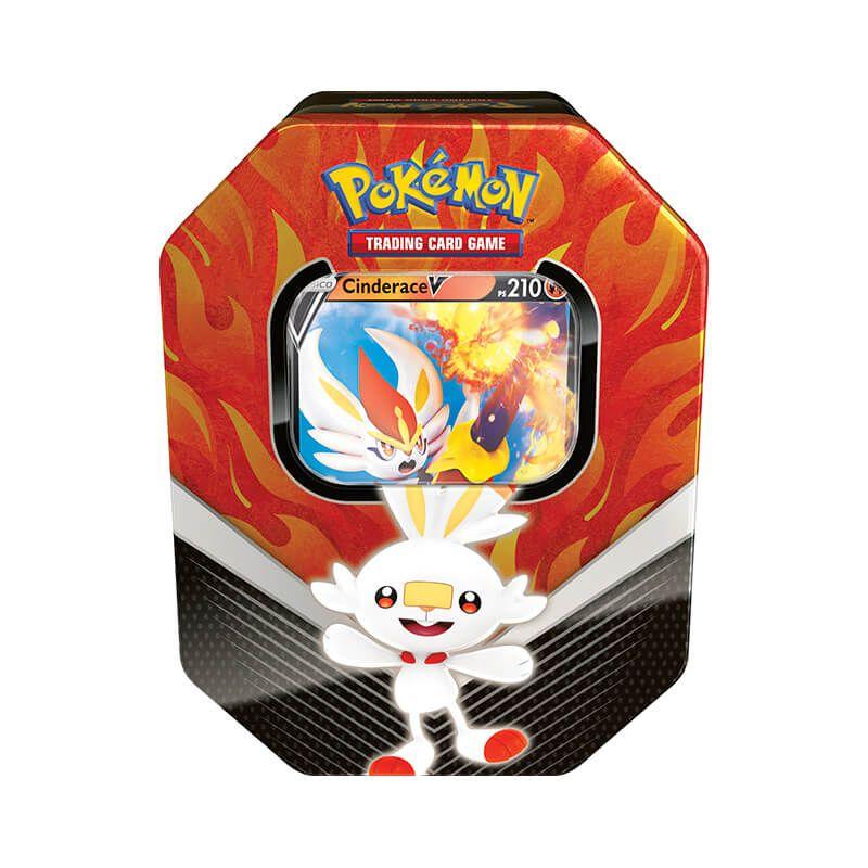 Pokémon TCG: Lata Colecionável Parceiros de Galar - Cinderace V