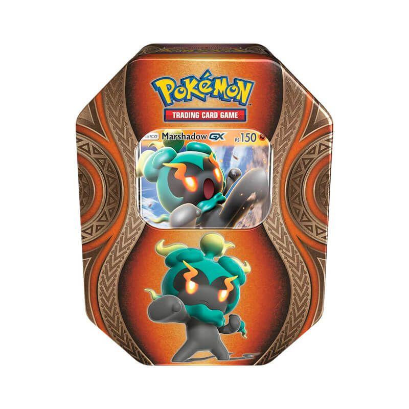 Pokémon TCG: Lata Colecionável Poderes Misteriosos - Ho-Oh GX + Necrozma GX + Marshadow GX