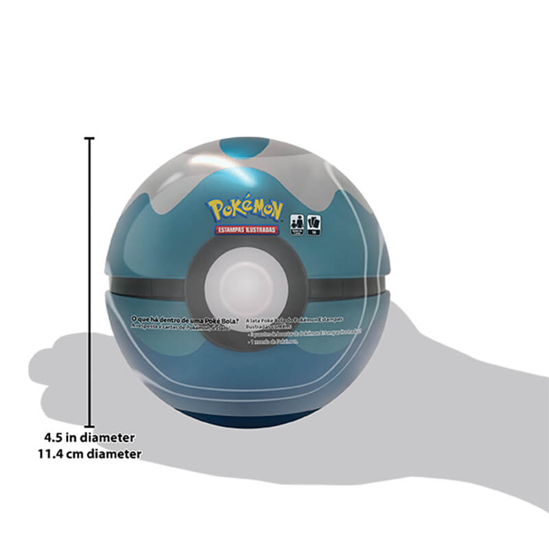 Pokémon TCG: Lata Colecionável Poké Bola (Dive Ball/Bola Mergulho)