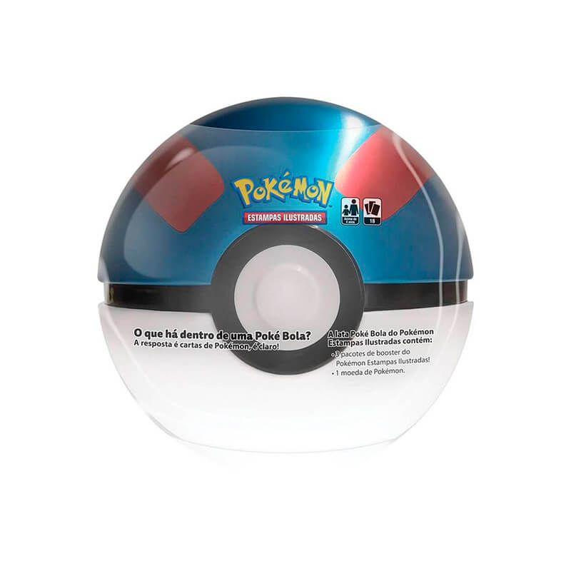 Pokémon TCG: Latas Colecionáveis Poké Bola (Poké Ball) + Great Ball/Grande Bola