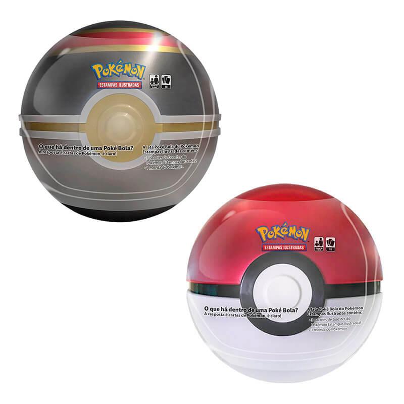 Pokémon TCG: Latas Colecionáveis Poké Bola (Poké Ball) + Luxury Ball/Bola Luxo