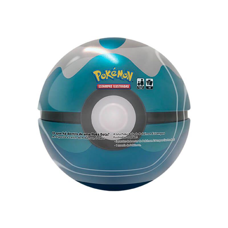 Pokémon TCG: Latas Colecionáveis Poké Bola (Poké Ball) + Dive Ball/Bola Mergulho