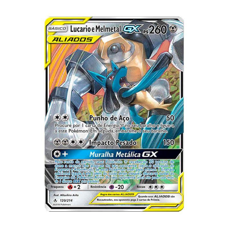 Pokémon TCG: Lucario e Melmetal GX (120/214) - SM10 Elos Inquebráveis