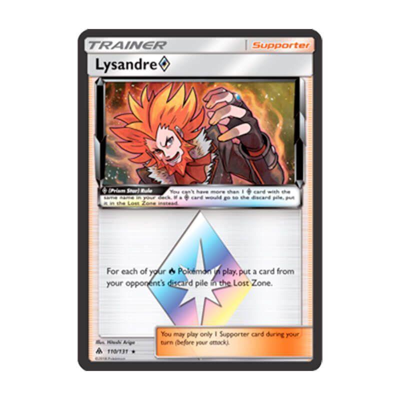 Pokémon TCG: Lysandre Estrela Prisma (110/131) - SM6 Luz Proibida